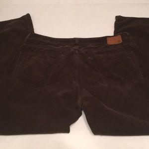AG The Protege Straight Brown corduroy jeans 36